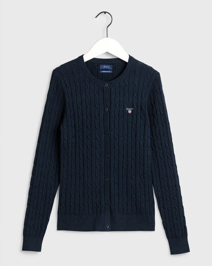 Gant-strech-cotton-cable-crew-cardigan