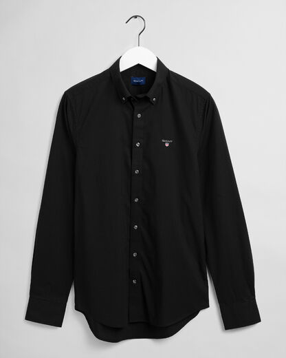 Gant-Slim-Broadcloth-Shirt-Musta