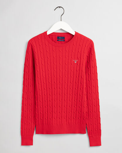 Gant-strech-cotton-cable-c-neck