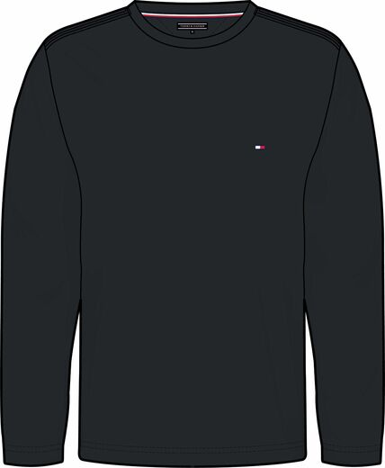 Tommy Hilfiger Stretch Slim Fit Long Sleeve Tee trikoopaita tummansininen ja musta
